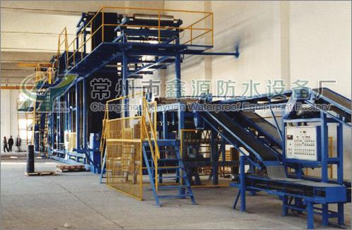 点击查看500-1000彩色沥青瓦油毡瓦生产线详细说明
