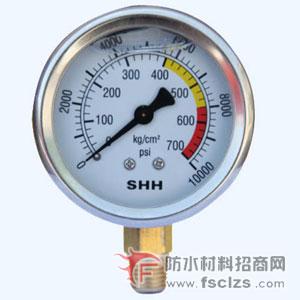 点击查看高压灌浆机压力表详细说明