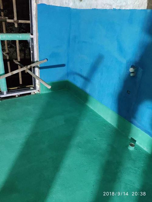 点击查看嘉佰丽f防水彩色蓝色超弹柔韧型防水涂料厂家直销防水涂料详细说明