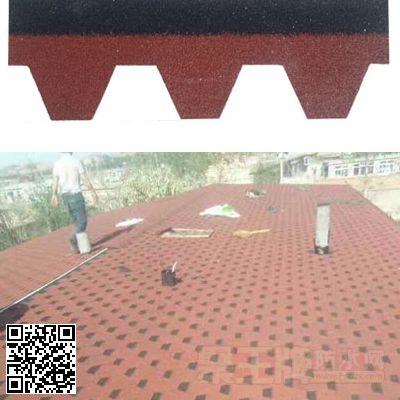 马赛克中国红彩色沥青玻纤瓦