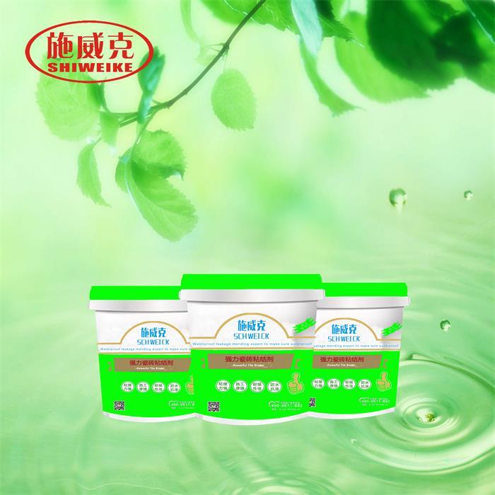 河南强力瓷砖粘结剂 瓷砖背胶 施威克防水产品包装图片