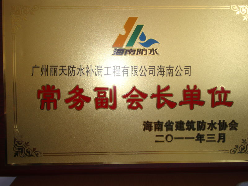 常务副会长 -丽天防水材料有限公司