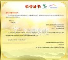 参加2010年上海世博会民营企业联合馆