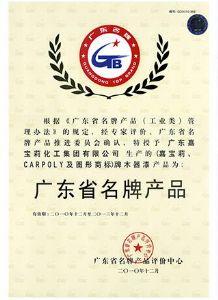 广东省名牌产品(木器漆 )