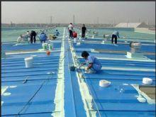 丙烯酸防水涂料彩钢瓦工程