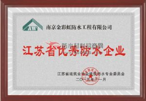 江苏省优秀防水企业