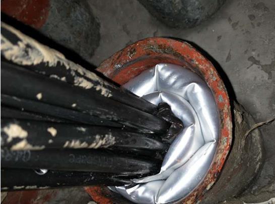 助航灯灯箱电缆保护套管封堵新材料