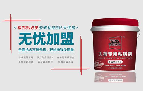 广州楼邦贴必安瓷砖背胶防水涂料招商加盟