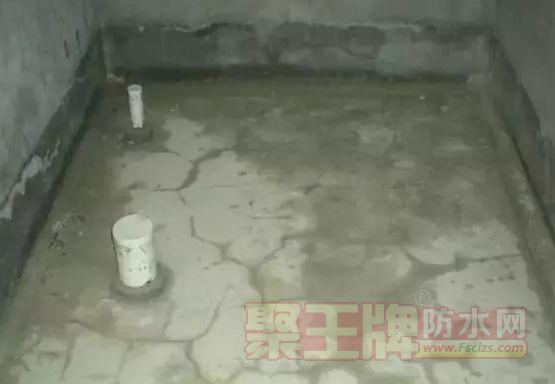 防水层开裂现象