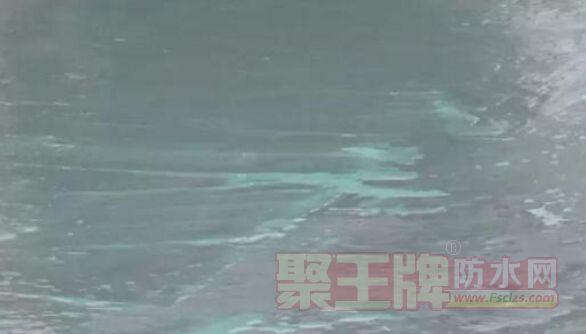 防水层存在泛白现象