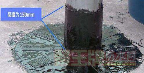 穿过防水层的管道和预埋件防水处理