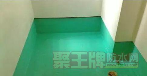 刷第一遍防水涂料