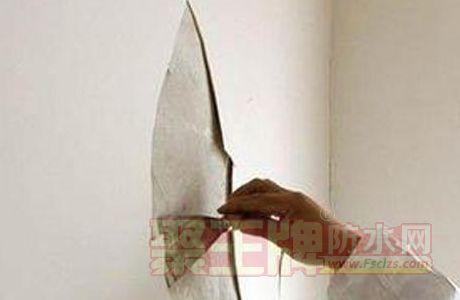 墙面裂缝处理图