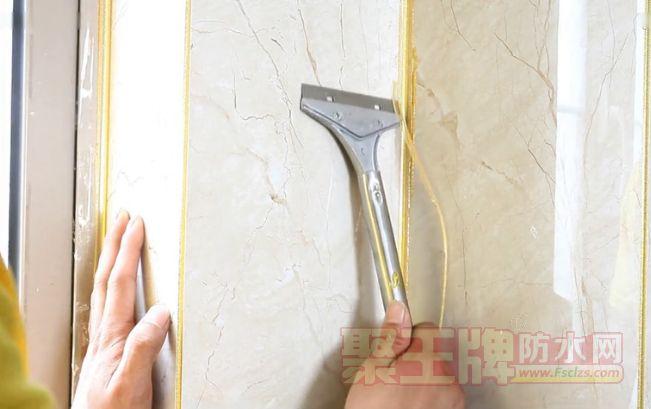 施工的视频【效果图】墙面瓷砖美缝施工图-钻石金