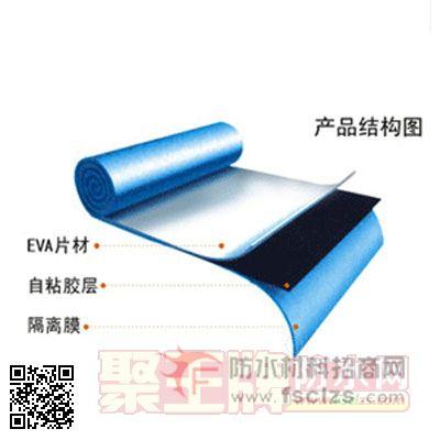 聚王牌配图为广州防水品牌招商产品丽天牌EWA高分子复合自粘防水卷材