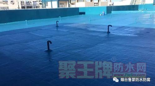 屋面防水工程有采用蓝色聚脲防水涂料 效果不错