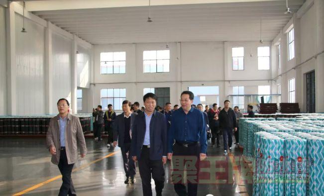 中国防水之乡台头镇领导及防水行业专家来国鸿防水观摩调研