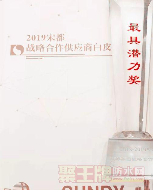 """蓝盾防水获宋都集团战略合作伙伴""""最具潜力奖"""""""