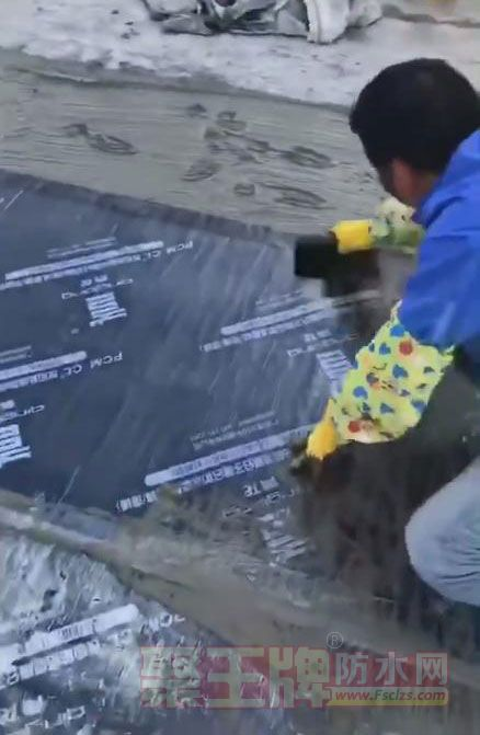 青龙防水卷材施工现场