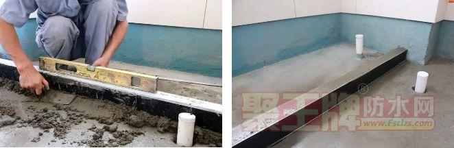 卫生间防水挡水条应预先埋设并填实