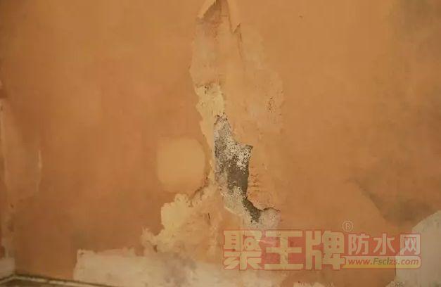 防水没做好客厅墙面,都出现了不同程度的受潮、霉变