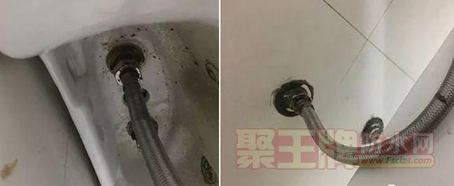 给水管路老化造成的漏水(以热水管路尤甚)