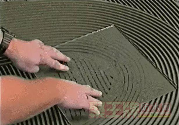 瓷砖胶的分布有密有疏