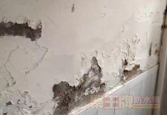 房子渗水、墙皮剥落发霉,都是防水没做好惹得祸
