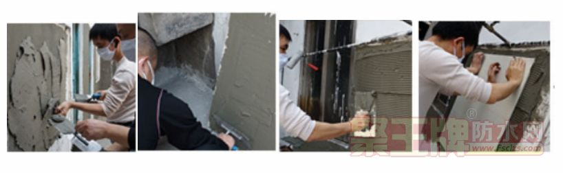 """施工时请使用专业""""齿形刮刀""""将胶浆均匀批刮在工作表面上.png"""