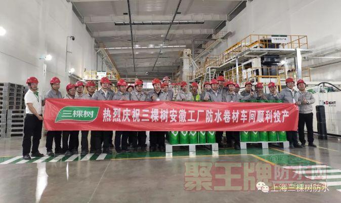科技防水,长筑久安 | 三棵树防水安徽工厂投产