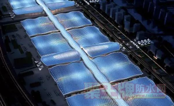 TPO高分子防水卷材在深圳国际会展中心超大金属屋面的应用
