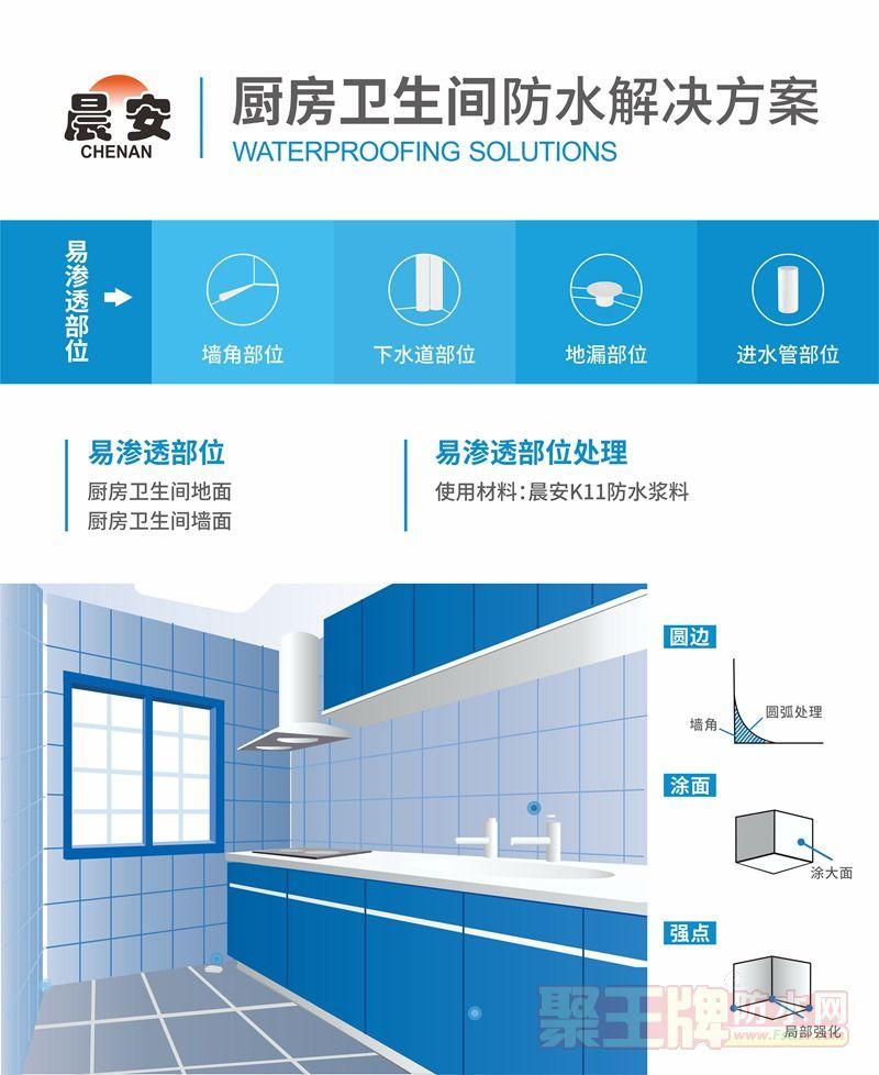 厨房卫生间防水解决方案