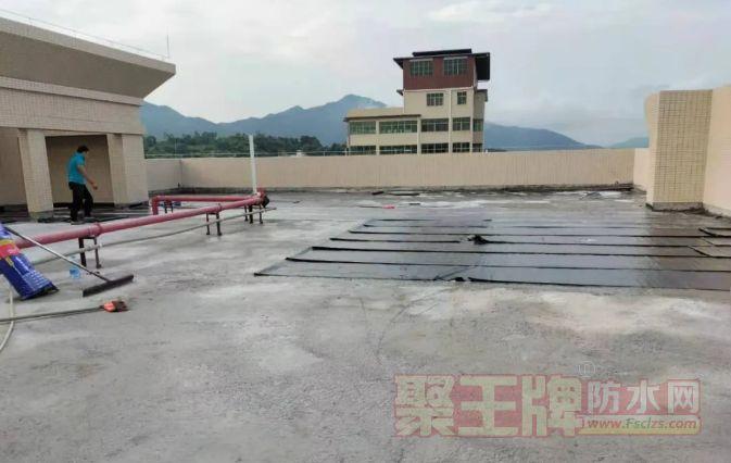 JS聚合物水泥基+水泥打底做湿铺法蕉岭县天面防水工程